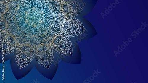Background with golden mandalas, round indian pattern, muslim pattern Wallpaper Mural