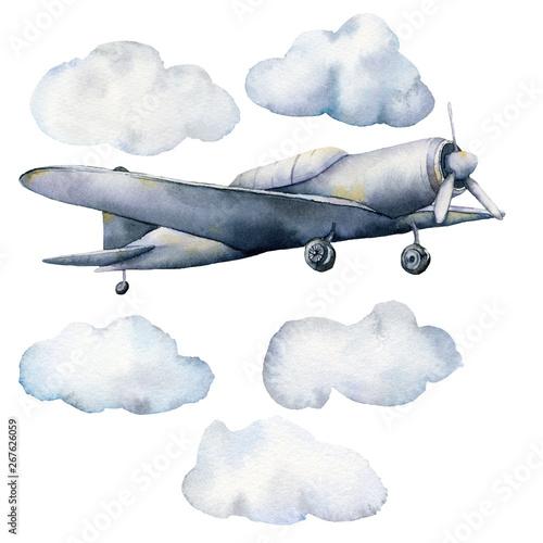 akwarela-zestaw-z-chmurami-i