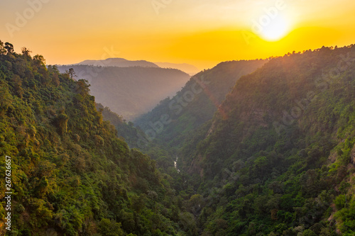 Fototapety, obrazy: Tad Fan waterfall in The deep forest in Southern of Laos
