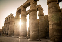 Columns At The Temple Of Luxor, Luxor, Egypt