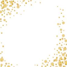 Majestic Glitter Gold Sparkling Confetti On White
