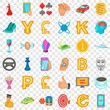 Cards icons set. Cartoon style of 36 cards vector icons for web for any design