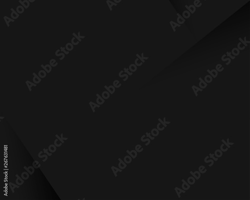 Black abstract paper style minimal vector background Fototapete