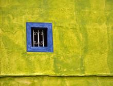 Window On Yellow Wall