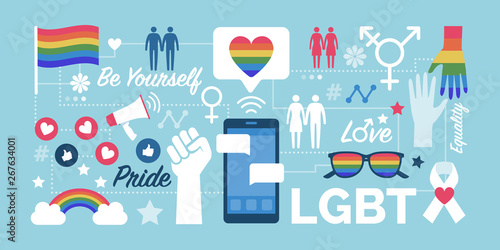 Fotomural  LGBT rights and social media community