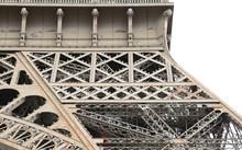 Paris, France - August 21, 2018: .Detail Of Structure Of Eiffel