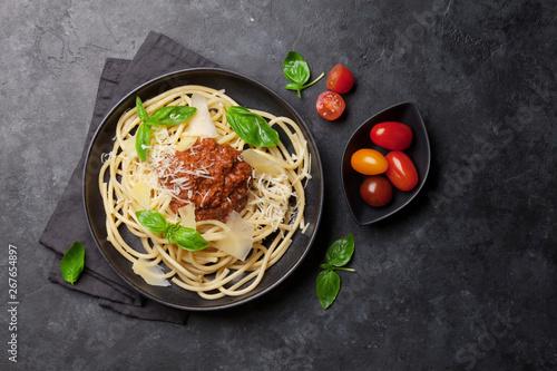 Poster de jardin Ecole de Danse Spaghetti bolognese pasta