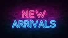 New Arrivals Neon Sign. Purple...