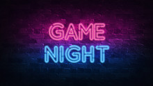 Game Night Neon Sign. Purple A...