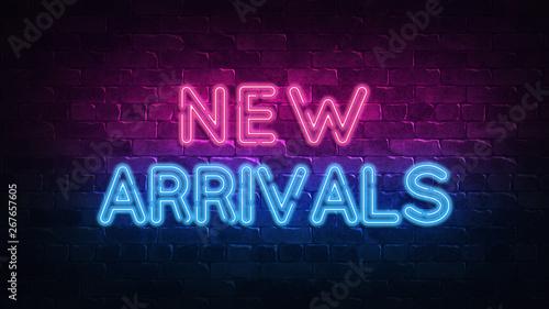 new arrivals neon sign Canvas Print