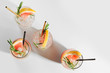 Grapefruit and Rosemary cocktail. Refreshing and non-alcoholic drink perfect for spring or summer.