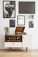 White Wooden Dresser With Vint...