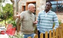 Good Neighbors Talk On The Bor...