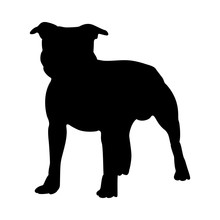 Staffordshire Terrier Dog Silh...