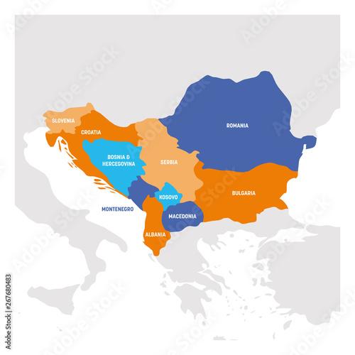 Leinwand Poster Southeast Europe Region