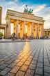 Leinwandbild Motiv Brandenburg Gate at sunset, Berlin, Germany