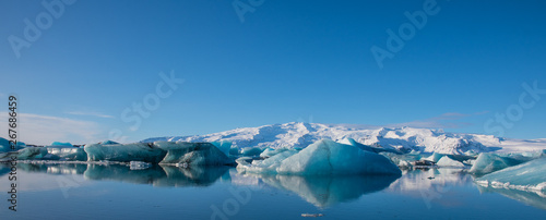 Icebergs in Jokulsarlon Glacier Lagoon in south Iceland
