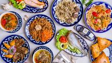 Dishes Of Uzbek Cuisine Lagman...