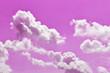 Leinwandbild Motiv pink flowers on background of blue sky