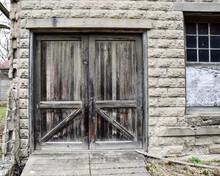 Wooden Weathered Vintage Barn Door