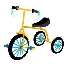 Children's Tricycle With Blue ...