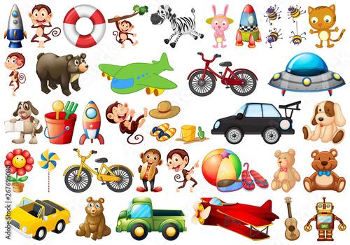 Foto op Canvas Cars Set of children toys