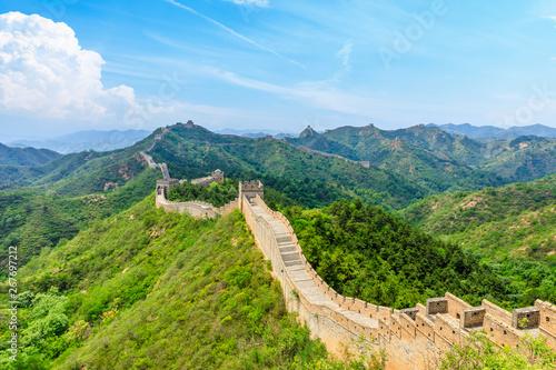 Fotografie, Tablou  The Great Wall of China at Jinshanling