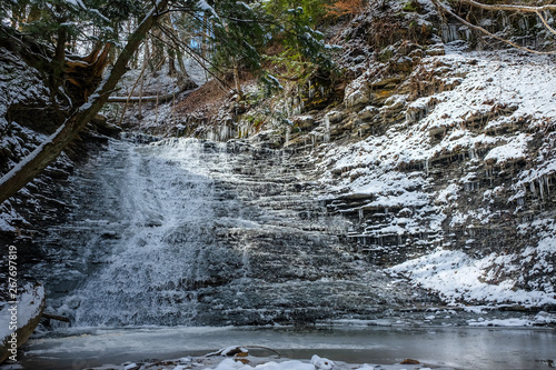 Valokuva  Cucumber Falls Winter