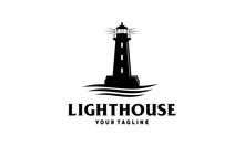Lighthouse With Ocean Vector L...
