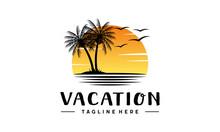 Vacation Logo Design. Summer H...