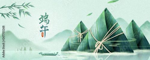 Fotografia  Dragon boat festival banner