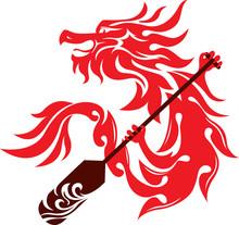 Dragon Boat Festival Icon Logo Design Vector Illustration