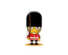 Cartoon British Royal Soldier ...