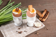 Perfect Soft Boiled Eggs Withcroutons