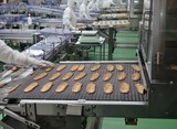 菓子工場の製造ライン
