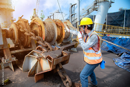 engineering or worker, motor man, loading master controller