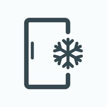 Deep Freezer Isolated Icon, Kitchen Freezer Outline Vector Icon