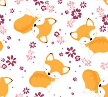 Cute Baby Fox Pattern