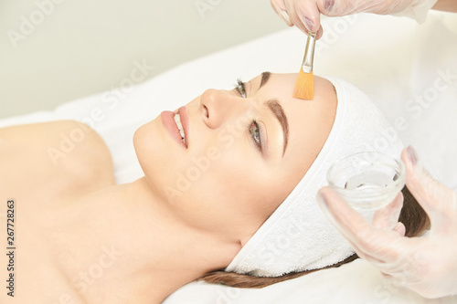 Facial brush peel retinol treatment Wallpaper Mural