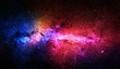 Colorful stars and space background. Elements of this image furnished by NASA.