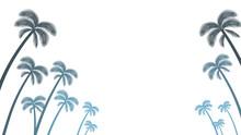 Palm Tree Silhouette Frame