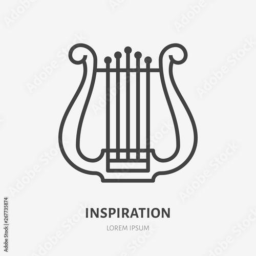 Photo Inspiration flat line icon