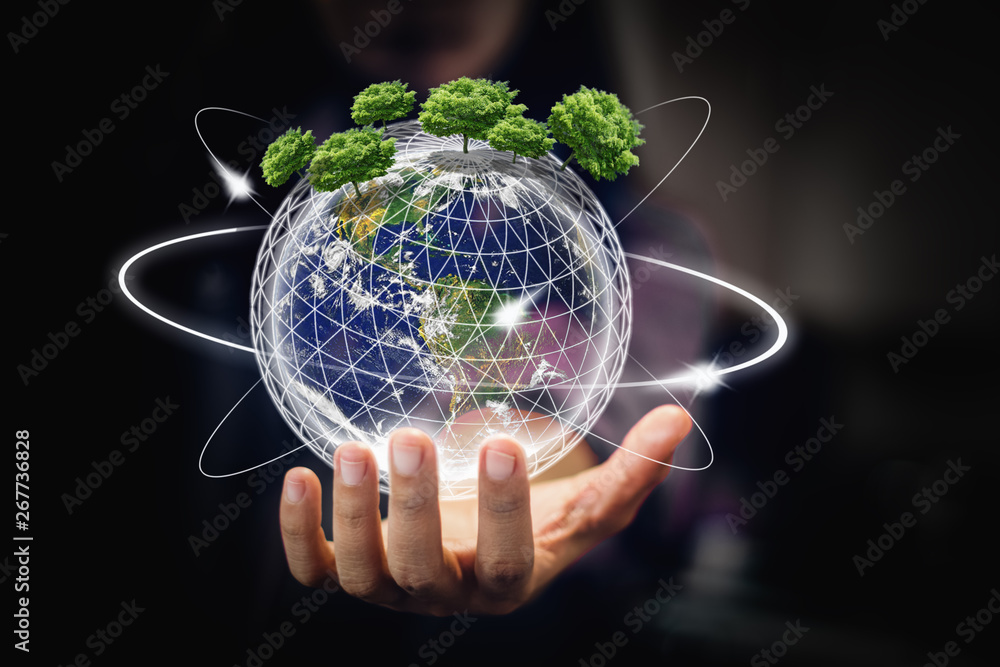 Fototapeta earth in hands - environment concept - elements of this image furnished by NASA - Image
