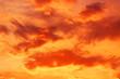 Leinwandbild Motiv Colorful sunset and clouds background.