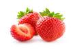 Leinwandbild Motiv Sweet strawberry on white background