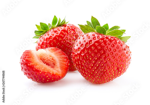 Fototapeta Sweet strawberry on white background obraz