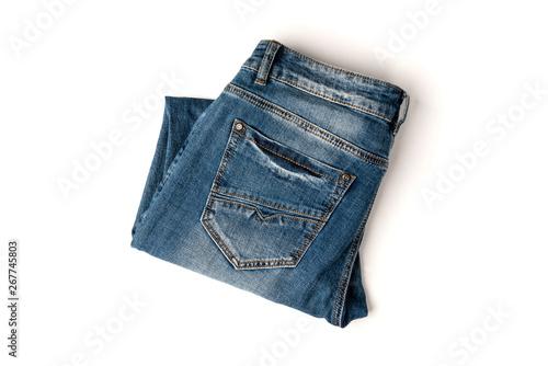 Fotografie, Obraz  Jeans isolated on white background.