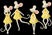 Cute Cartoon Dancing Mouse. Nice Positive Illustration, Clip Art, Scrapbooking Graphic Isolated