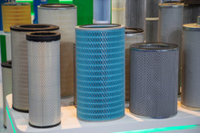Close-up Various Diameters And Types Of Industrial Filter Product
