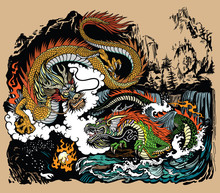 Two Chinese East Asian Dragons...